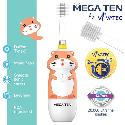 Mega Ten Kids Sonic Toothbrush