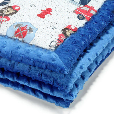 Thick Blanket XL Adult - Braveheart Lion - Electric Blue