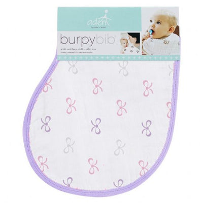 aden by aden and anais - lavender lady muslin burpy bib single - Artock Australia