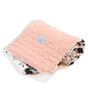 Velvet-Cotton Medium Blanket Moonlight Swan Powder Pink