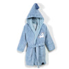 La Millou - Bathrobe Bamboo Soft Large - Unicorn Rainbow Knight - Dusty Blue - Artock Australia
