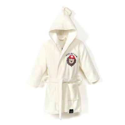 La Millou - Bathrobe Bamboo Soft | Medium | Braveheart Lion | Cream - Artock Australia