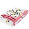 Thick Blanket XXL Adult - Cute Birds Vivid - Coral