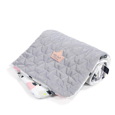 Velvet-Cotton Medium Blanket Doggy Unicorn Grey