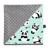 Light Blanket Large - I Love Panda | Mint Grey