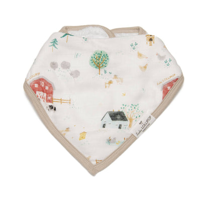 Loulou Lollipop | Bandana Bib Set - Farm Animals | Artock Australia