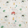 Loulou Lollipop | Fitted Crib Sheet - Farm Animals | Artock Australia