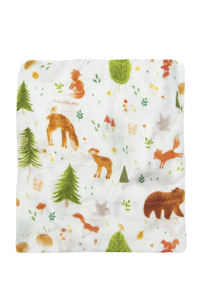 Loulou Lollipop | Fitted Crib Sheet - Forest Friends | Artock Australia