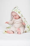 Loulou Lollipop - Hooded Towel Set - Avocado - Artock Australia