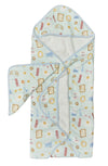 Loulou Lollipop - Hooded Towel Set - Breakfast Blue - Artock Australia