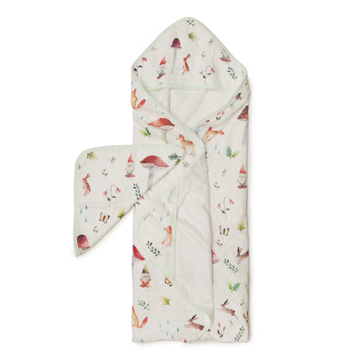 Loulou Lollipop | Hooded Towel Set - Woodland Gnome | Artock Australia
