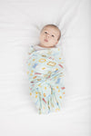 Loulou Lollipop - Muslin Swaddle - Breakfast Blue - Artock Australia