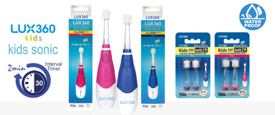 Lux 360 Kids Sonic ½ Yearly Set - Toothbrush + Refill (2 Heads)