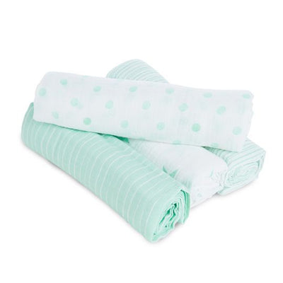 aden by aden and anais - dream stars 4 pack muslin swaddles - Artock Australia