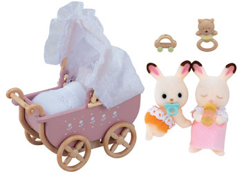 Sylvanian Families | Chocolate Rabbit Twins Set | Artock Australia