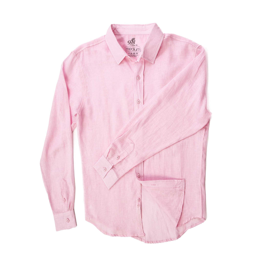 SEASHELL PINK LINEN SHIRT