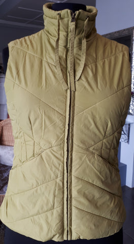 Tom Taylor Puffer Waistcoat in Chartreuse (S)