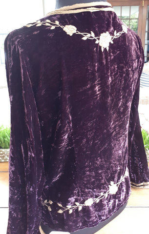 Nicci Velvet Purple Jacket (S)