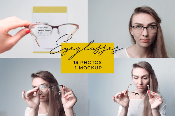 Magic Bundle - Eyeglasses Magic Bundle: 13 Photos + 1 Mockup