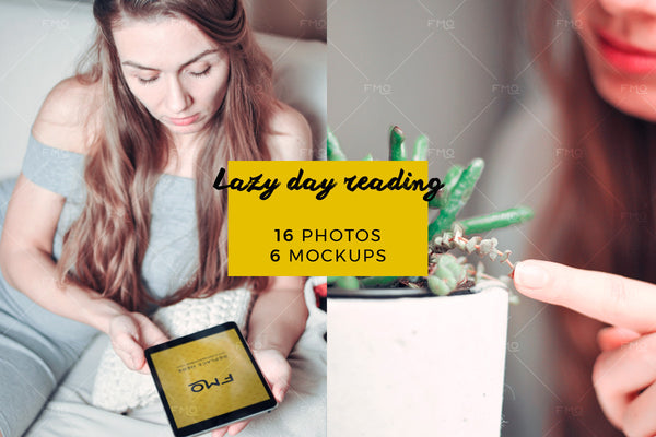 Magic Bundle - Lazy Day Reading: 16 Photos + 6 Mockups