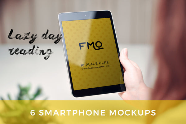 Mockup - Lazy Day Reading: 6 Tablet Mockups