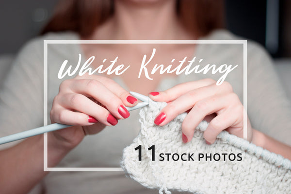 Photo - White Knitting: 11 Stock Photos