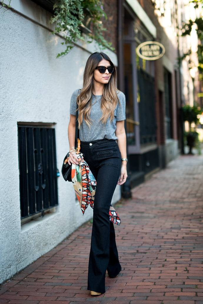 10 Different Looks & Tips on What to Wear With Flared Jeans