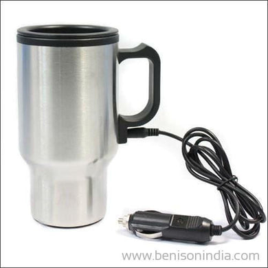 Benison India 12V Adapter Electric Heated Stainless Steel Mug for Car-Benison India-Benison India