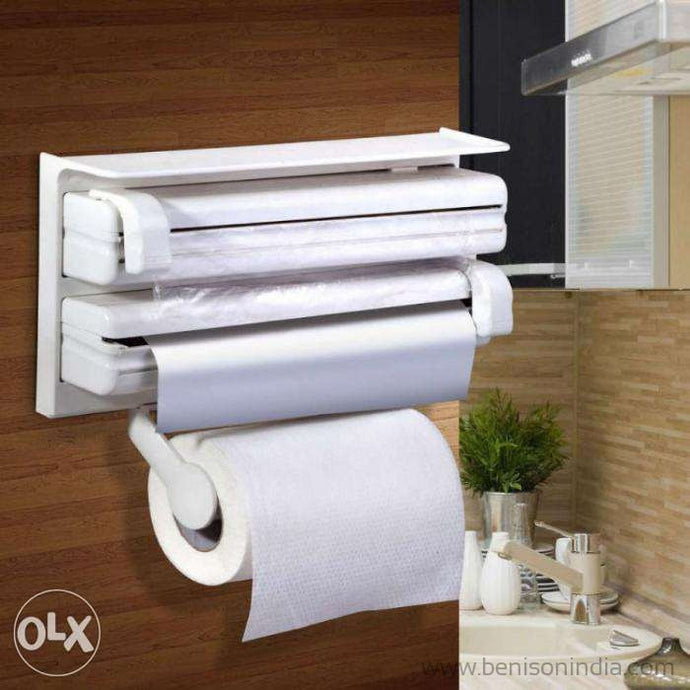 3 In 1 Kitchen Triple Paper Dispenser Holder TP Paper Dispenser | Benison India