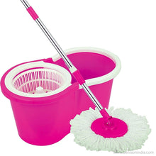 360 degree Spin Mop Rotating ,Pole Bucket ,No Foot Pedal( 2 Microfiber Heads) | Benison India