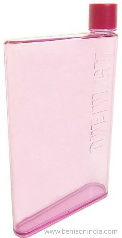 Benison India A5 Memo Note Book Ultra Sim 420 ml Water Bottle (Set of 1, Pink )-Benison India-Benison India