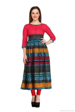 Benison India Best Selling Multi Coloured Anarkhali Kurti-Benison India-Benison India