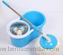 Benison India Best Spin Mop Bucket System, Deluxe 360 Degree Spin Self-wringing Floor Cleaning Easy Magic Mops-Benison India-Benison India