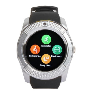 Benison India Bluetooth GB8 Smart Watch-Silver-Electronics-Benison India-Silver-Benison India