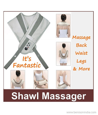 Benison India Cervical Massage Shawl for Deep Tissue Relief, Relieving Back, Neck and Shoulder Aches-Benison India-Benison India