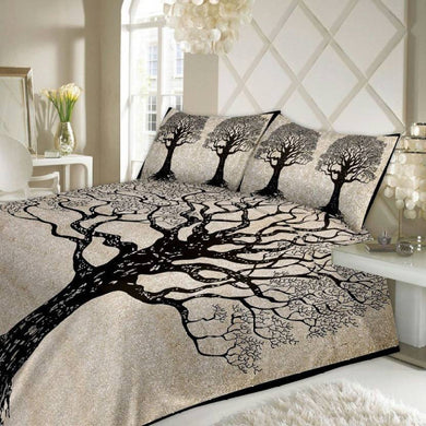 Benison India Cotton Printed Double Bedsheet (1 Bedsheet With 2 pillow color, Black)-Home & Kitchen-Benison India-Benison India