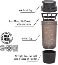 Benison India Cyclone Shaker Bottle-Health & Personal Care-Benison India-Black-Benison India