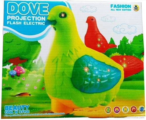 Benison India Dove Projection with Flash, Music, Rotating, Moving & Lighting Toy-Benison India-Benison India