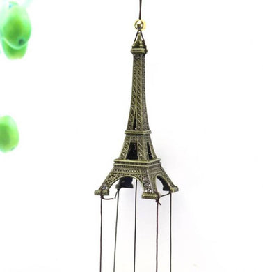 Benison India Feng Shui Fengling Eiffel Tower Metal Windchime For Good Luck (22 inch)-Benison India-Benison India