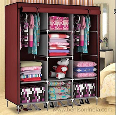 Benison India Folding Wardrobe Almirah For Fabric Cloth-Benison India-Benison India