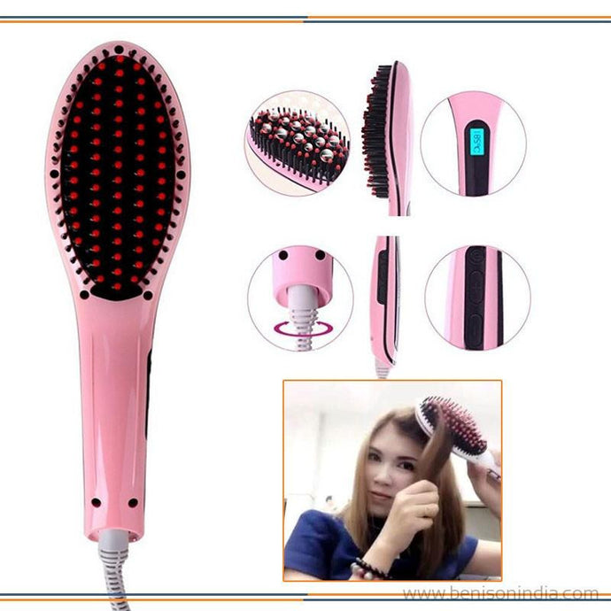 Benison India HQT-906 Digital Hair Straightener with Comb, Brush for Flat Iron Styling-Benison India-Benison India