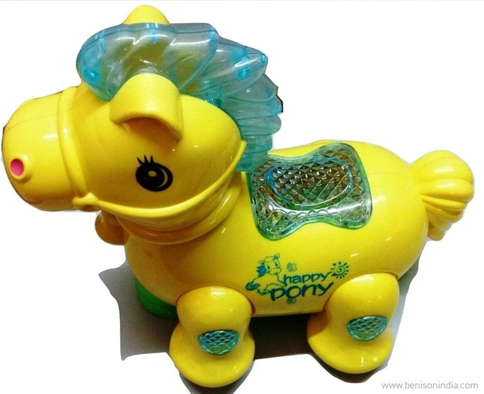 buy lovely musical pony flash toy online benison india