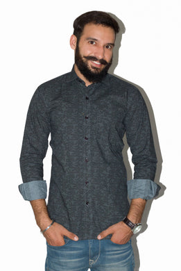 Benison India Men's Full Sleeve Casual Printed Shirt-Men's Clothing-LeebaZone-Benison India