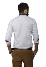 Benison India Men's Full Sleeve Casual Printed White Shirt-Men's Clothing-LeebaZone-Benison India
