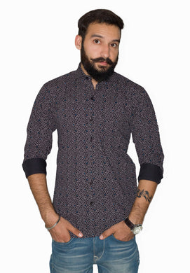Benison India Men's Printed Casual Multicolor Shirt-Men's Clothing-LeebaZone-Benison India