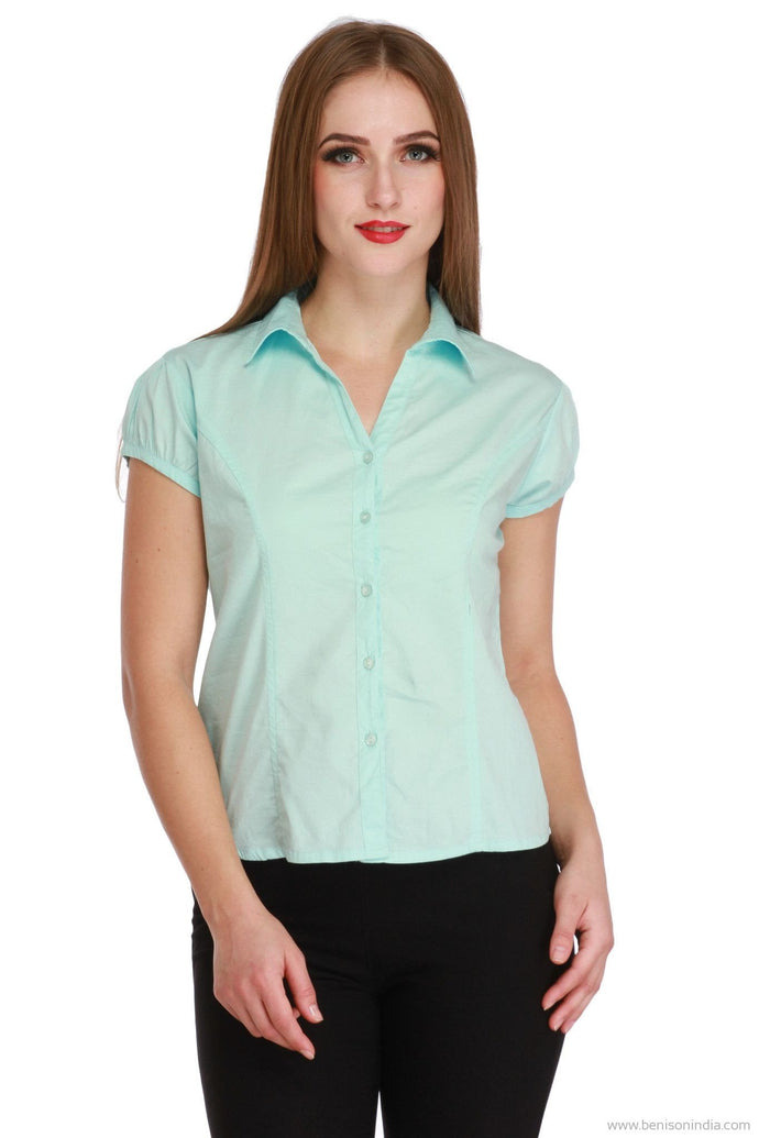Benison India New Light Seagreen Formal Top-Benison India-Benison India
