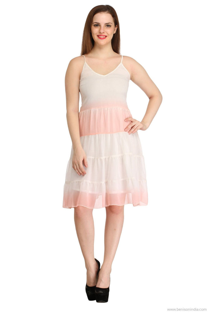 Benison India Ombre Dye Summer Frill Dress-Benison India-Benison India