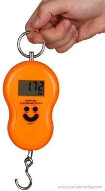 Benison India Portable Electronic Digital LCD Weighing Scale 40kg/50kg-Home & Kitchen-Benison India-Orange-Benison India