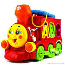 Benison India Smart Train with Flash Headlight, Chimney, Phone, Music, Number & Alphabet Slots-Benison India-Benison India