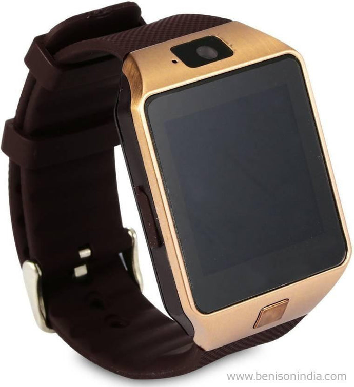 Benison India Smartwatch with SIM Slot & Memory Card Slot, Bluetooth and Fitness Tracker-Benison India-Brown-Benison India